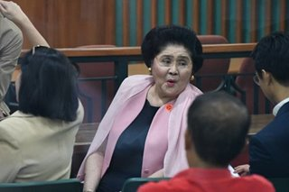 After citing ailments, Imelda now says she didn't know about Friday's promulgation