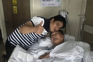 LOOK: Bong Revilla visits ailing dad in hospital