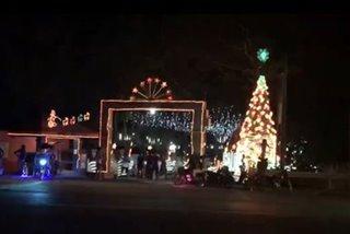 Christmas display ng barangay sa Batangas, dinarayo