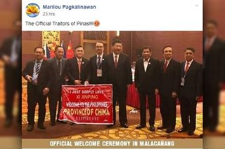 Fact check: No, this is not a photo of Xi Jinping being welcomed by Duterte with a banner saying PH is a 'province of China'