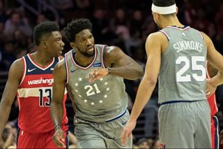 NBA: 76ers throttle Wizards behind Embiid, Simmons