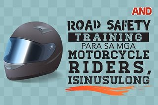 Road safety training para sa mga motorcycle riders, isinusulong