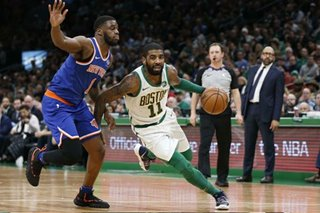 NBA: Irving leads way as Celtics rout Knicks
