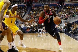 Wall erupts for 40 in Wizards' blowout of Lakers