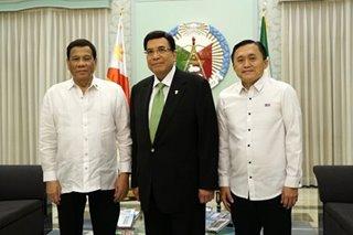 Duterte, Go visit Iglesia head