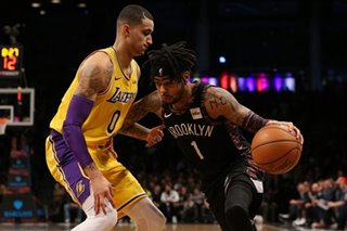 Russell gets revenge, leads Nets over Lakers