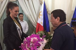 President meets the queen: Duterte welcomes Miss Universe Catriona Gray