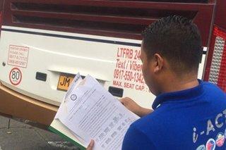 LTFRB nag-inspekyon ng mga bus sa Cubao