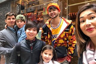 LOOK: Jackie Forster reunites with Kobe Paras in HK for Christmas
