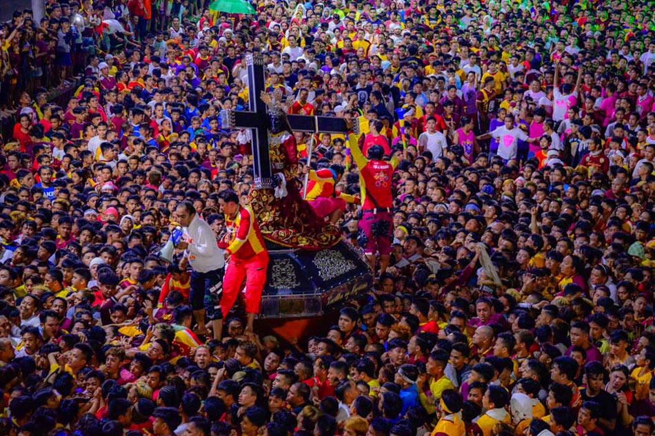 Thanksgiving procession honoring Black Nazarene