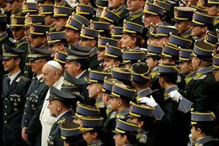 Pope Francis and the cadets