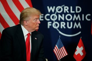 Dodging bad headlines, Trump turns salesman-in-chief at Davos