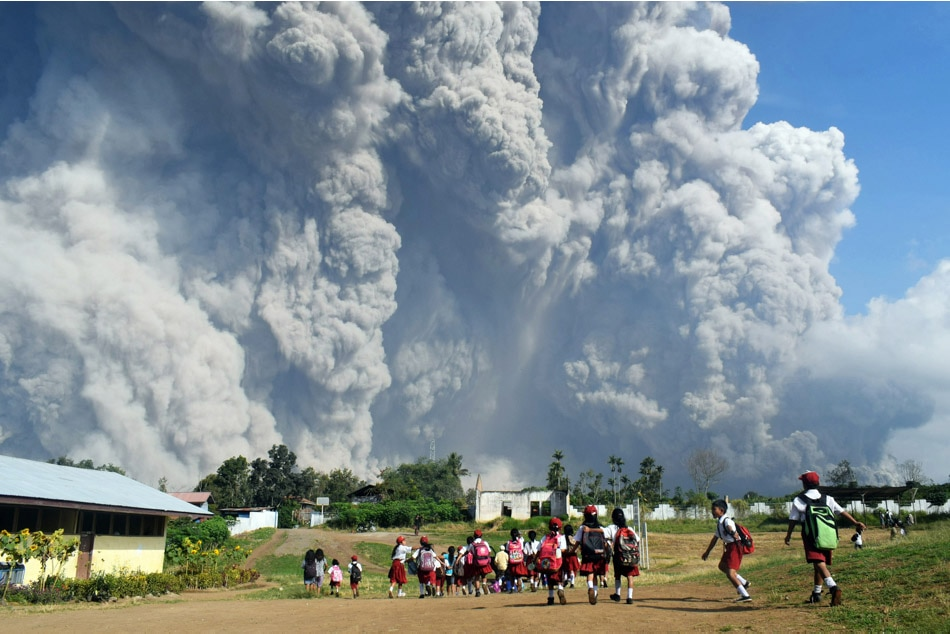 Witnessing Mount Sinabung's eruption