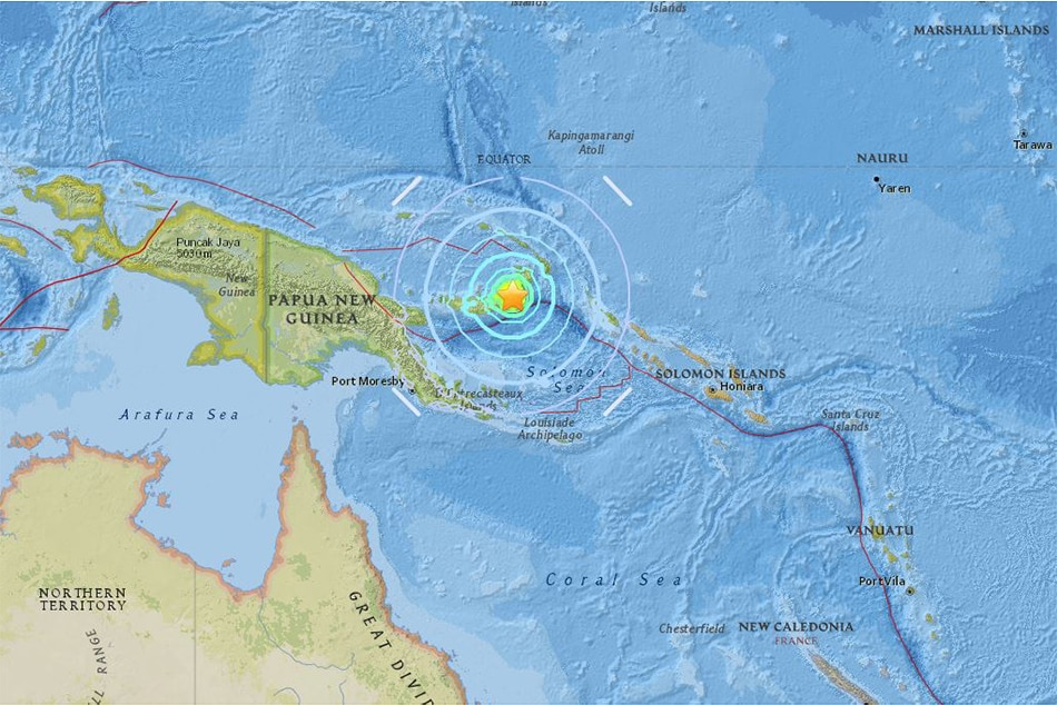 Strong quake hits Papua New Guinea, tsunami threat over