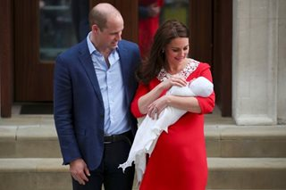 LOOK: Prince William and Kate with newborn son