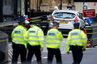 Car crash outside British parliament
