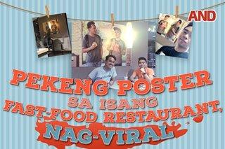 Pekeng poster sa isang fast-food restaurant, nag-viral