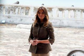 Melania Trump tours former slavery outpost