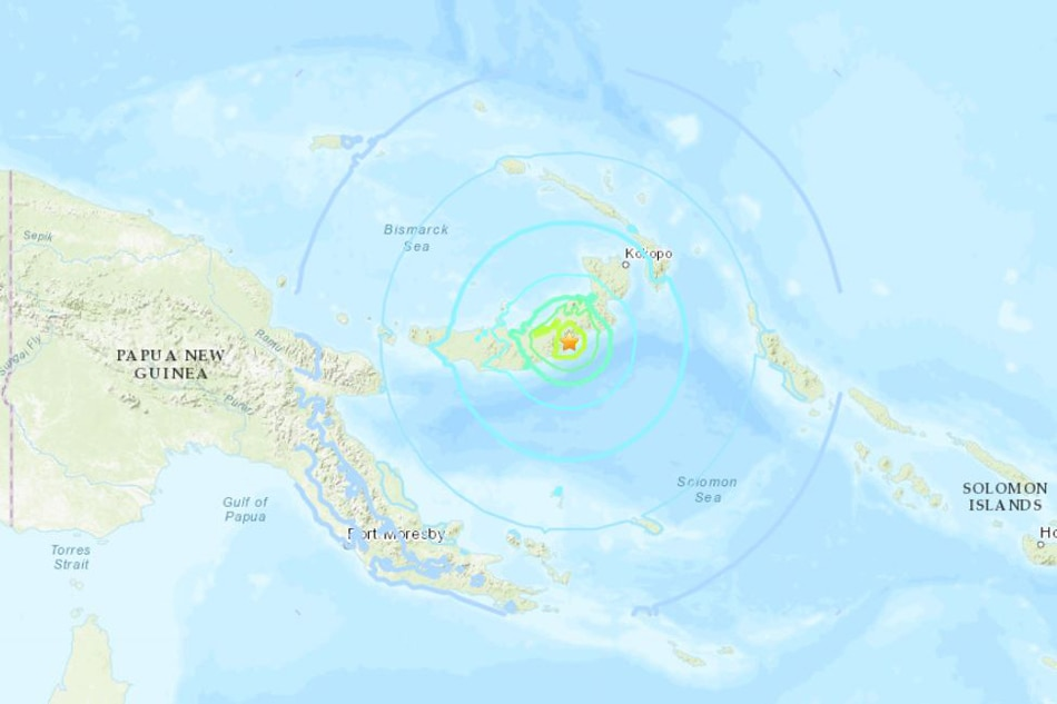Strong natural disaster  strikes Papua New Guinea; tsunami possible