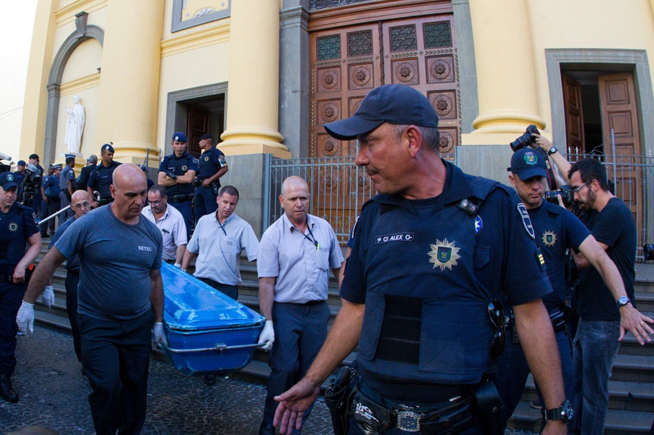 Gunman kills 4, then himself, after Mass at Brazil cathedral