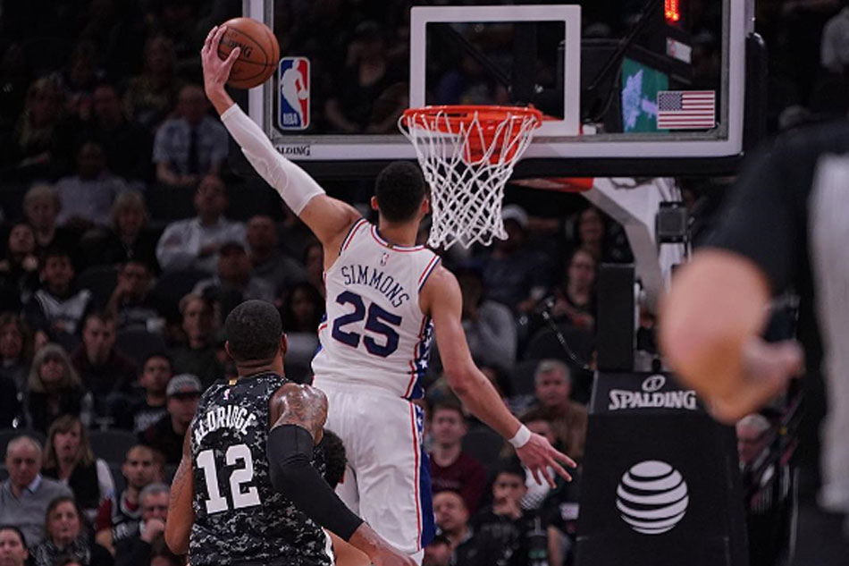 Stifling defense gives Sixers the season sweep over Spurs