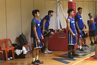 Ricci Rivero joins Gilas practice, veterans in full force