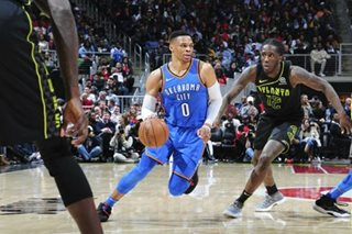 Westbrook's 100th triple-double leads Thunder past Hawks