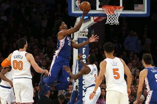 NBA: Embiid leads Sixers past Knicks, 118-110
