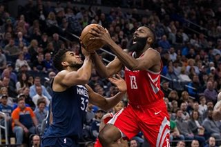 Harden, Rockets hold off Timberwolves
