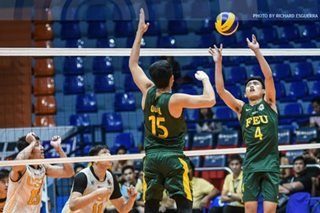 FEU, Ateneo force three-way tie for first place in UAAP men's volleyball