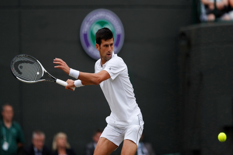 Djokovic downs Nishikori, into 8th Wimbledon SF