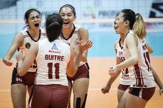 PVL: UP Lady Maroons shock FEU, near title conquest