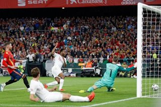 Football: Sterling shines as England blow Spain away