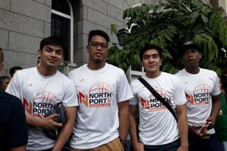 LOOK: NorthPort players support Mikee Romero's re-election bid