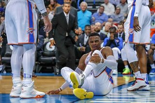 Thunder rule Westbrook out for Wednesday with sprained ankle
