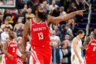 Harden's 43 tops Griffin's 37 as Rockets beat Pistons