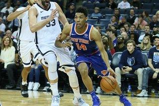 Burke, Knicks slip past Grizzlies