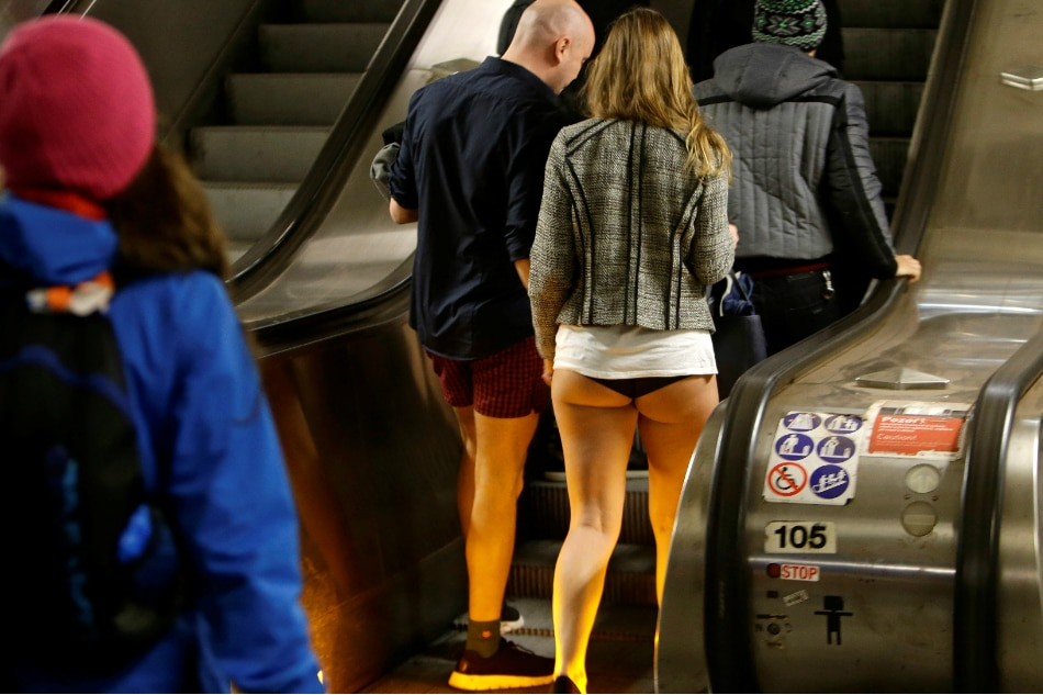 LOOK: Train passengers join worldwide 'No Pants Ride' | ABS