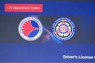 Appointment para sa license renewal, rehistro ng sasakyan, puwede na online