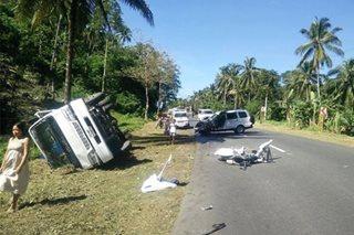 NFA official patay sa salpukan ng sasakyan, truck sa Surigao