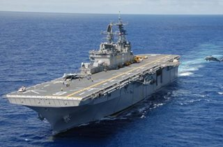 US amphibious assault ship arrives in Manila for port visit