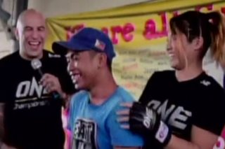 WATCH: Pinoy MMA fighters show soft side in outreach program