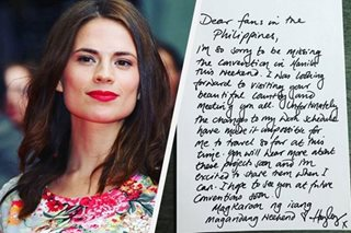 'In my own words': Hayley Atwell pens letter to Pinoy ComicCon fans