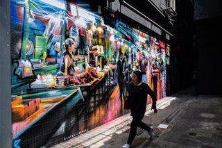 Street art makes a splash in Hong Kong