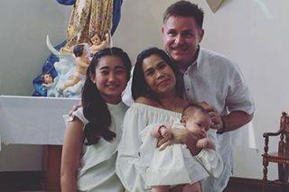 LOOK: Pokwang and Lee O'Brian's baby Malia baptized