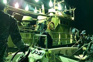 5 fishing vessel na gumagamit ng maliwanag na ilaw, hinuli ng Coast Guard