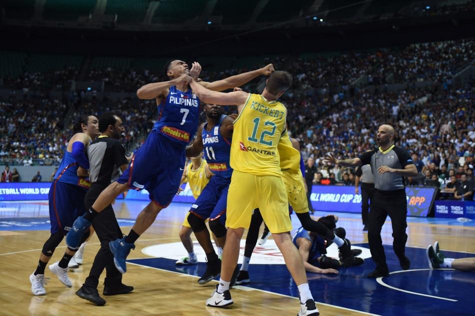 LOOK: Jayson Castro's flying punch in Gilas vs Australia