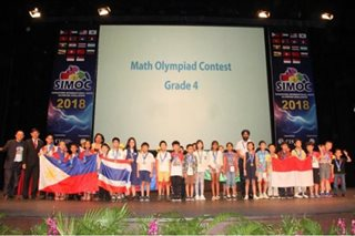 Pinoy students scoop up more than a 100 medals at Singapore math contest