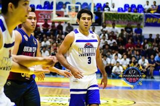 LOOK: Gerald Anderson in action for Marikina basketball club in MPBL