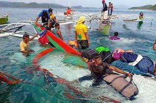 Pampasaherong bangka, tumaob sa Dinagat Islands